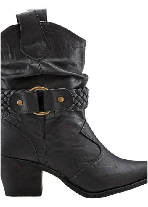 Damskie nowoczesne buty w stylu kowbojskim