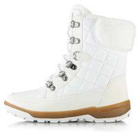 Białe damskie śniegowce Alpine Pro GERAINA z futerkiem