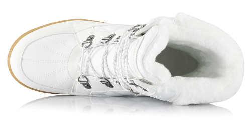 Ciepłe damskie buty śniegowe z ciepłym futerkiem