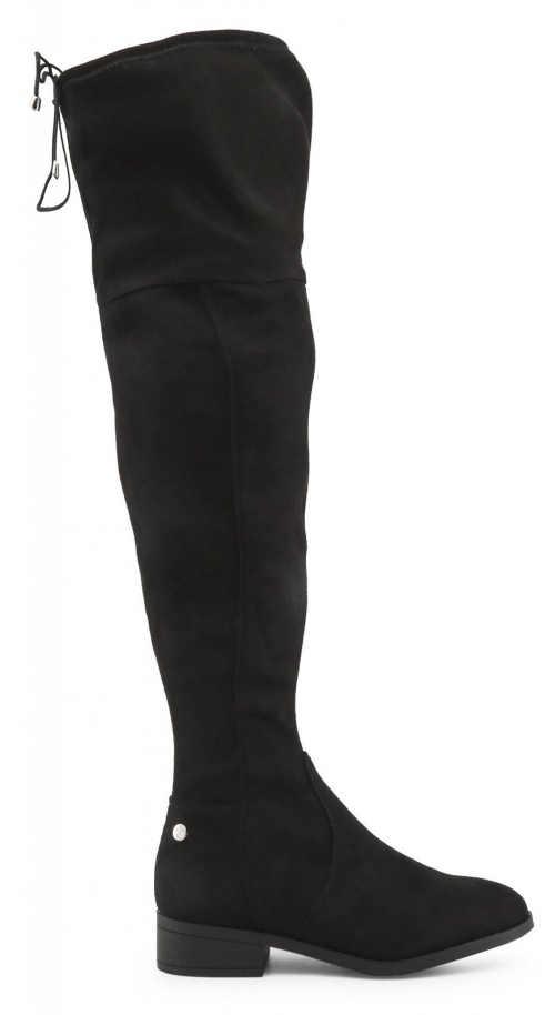 Czarne kozaki damskie powyżej kolan Xti Tanie