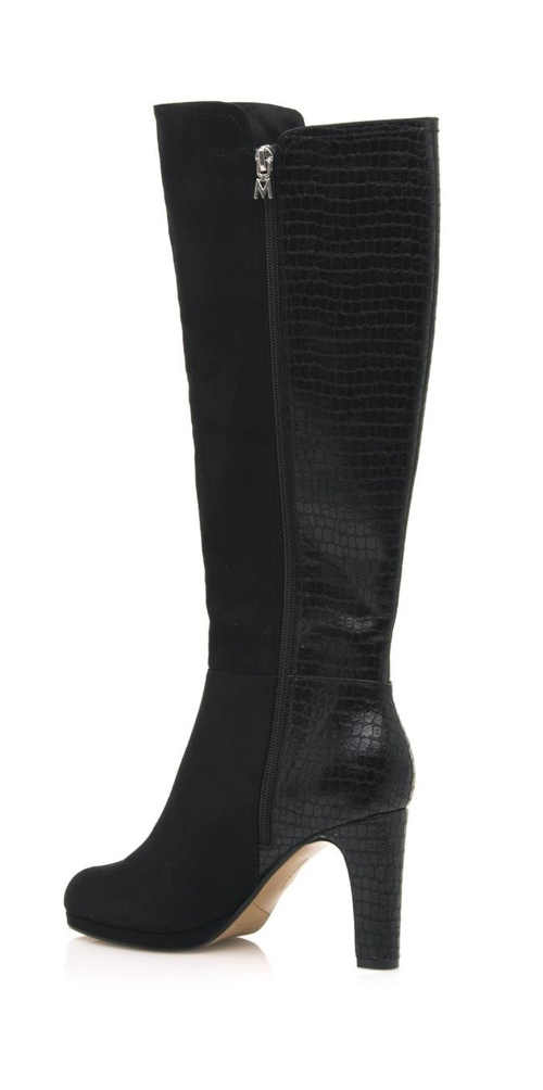 Czarne wysokie buty damskie