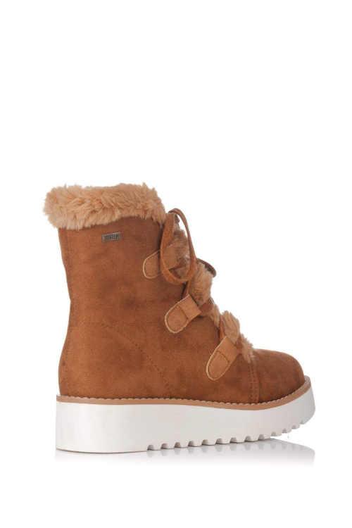 Damskie buty za kostkę na niższym klinie