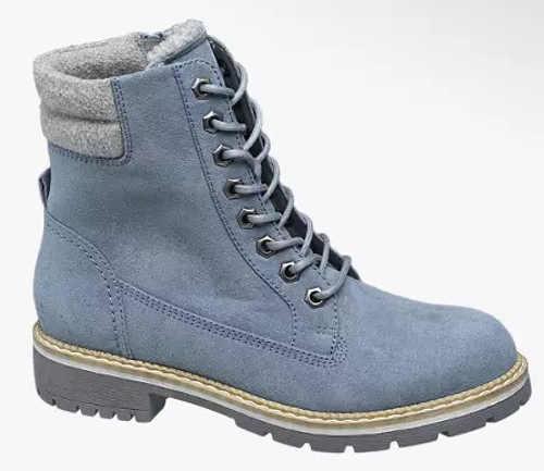 Jasnoniebieskie buty zimowe damskie farmer