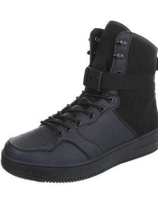 Męskie czarne buty za kostkę