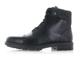 Męskie czarne skórzane buty zimowe za kostkę Gant Nobel II