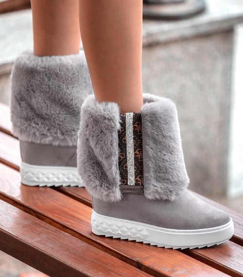 Nowoczesne śniegowce damskie na wysokiej platformie