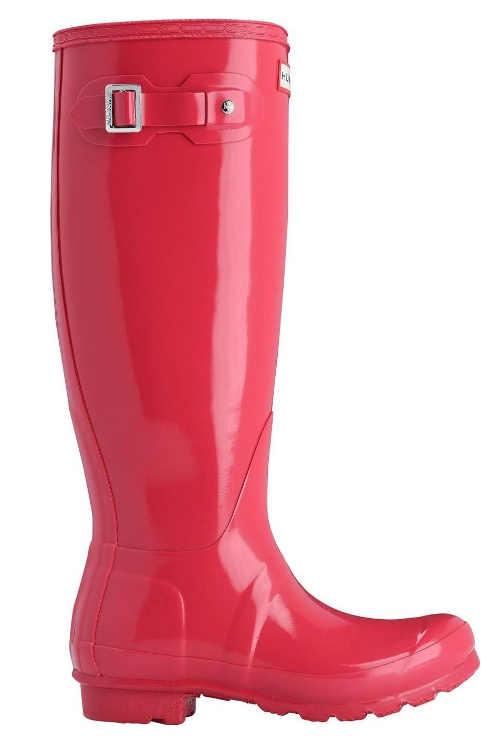 Różowe zimowe buty jeździeckie Hunter wysokie buty