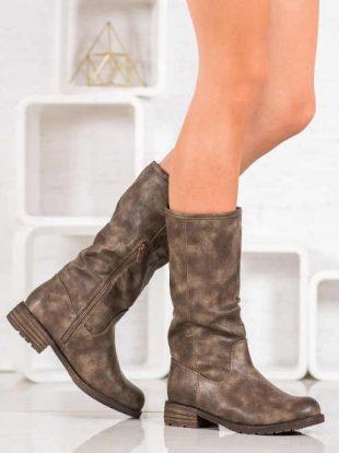 Stylowe buty z bocznym zamkiem błyskawicznym