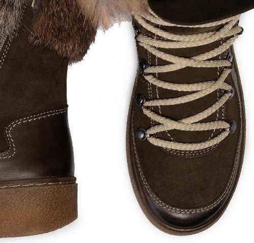 Wysokiej jakości buty zimowe damskie wykonane z naturalnej skóry