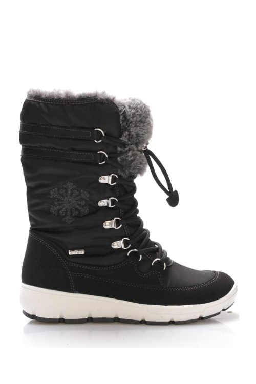 Czarne, nowoczesne śniegowce do ciągnięcia
