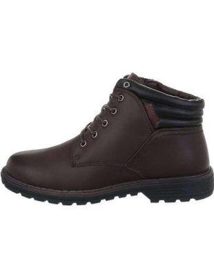 Męskie buty sznurowane w kolorze brązowym