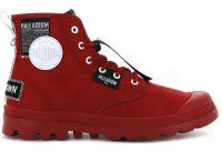 Czerwone stylowe buty za kostkę dla pań
