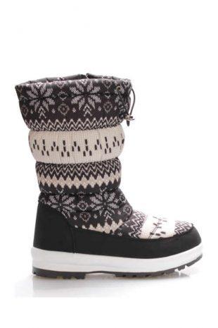 Damskie buty śniegowe z ponadczasowym zimowym wzorem