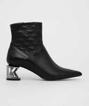 Skórzane buty za kostkę Karl Lagerfeld