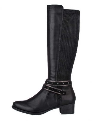 Damskie wysokie buty z elastyczną łydką