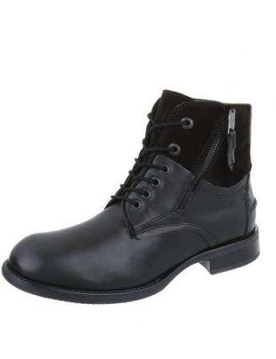 Skórzane męskie stylowe buty za kostkę